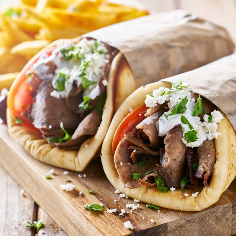 Gyro - Beef and Lamb - Feta - No Tzatziki